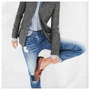 Point Sur Distressed High Rise Jeans